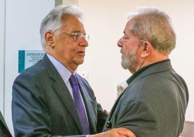 Encontro entre Fernando Henrique Cardoso e Luiz Inácio Lula da Silva no Hospital Sírio Libanês, em São Paulo