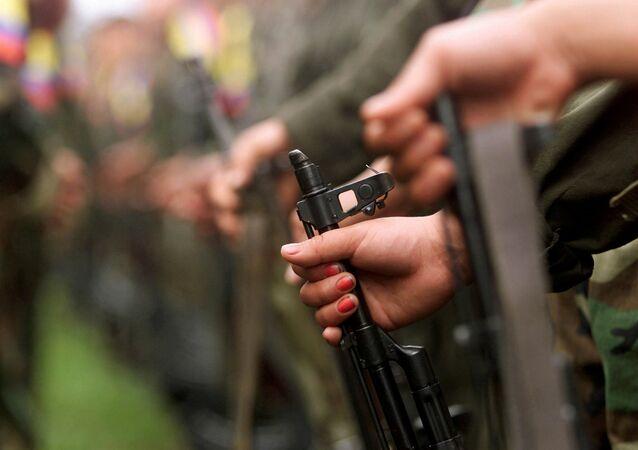 Armamentos utilizados por membros das Forças Armadas Revolucionárias da Colômbia (arquivo)