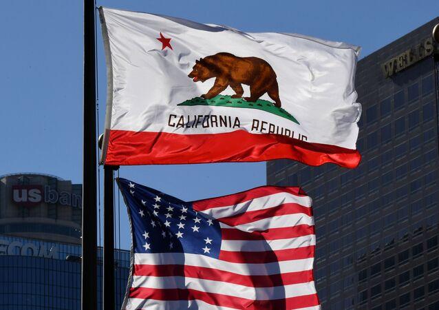 Bandeira de Califórnia em Los Angeles