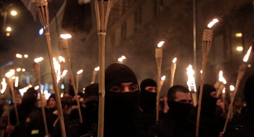 Neonazistas na Ucrânia (foto de arquivo)