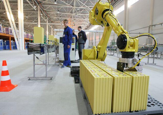 Fábrica de produção de baterias de íons-lítio na Rússia