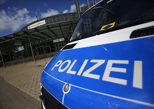 Um carro da polícia alemã