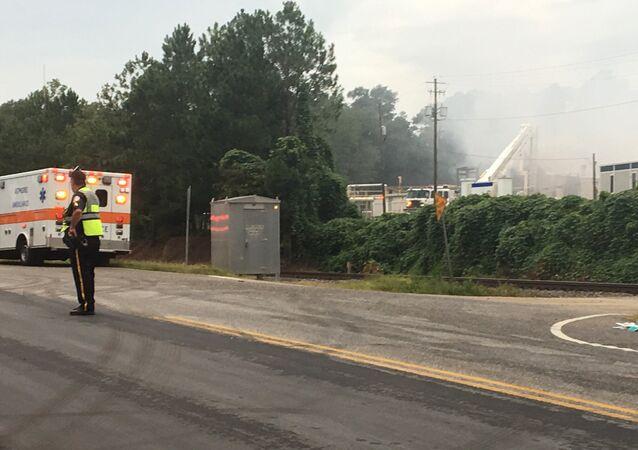 Incêndio em fábrica de produtos químicos da cidade de Atmore, no estado americano do Alabama