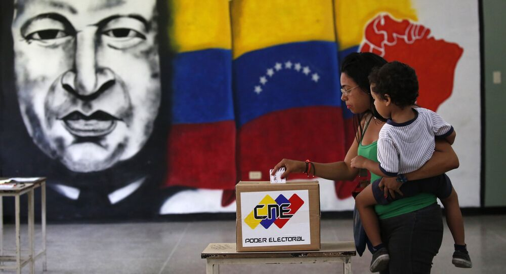 La votación en Venezuela