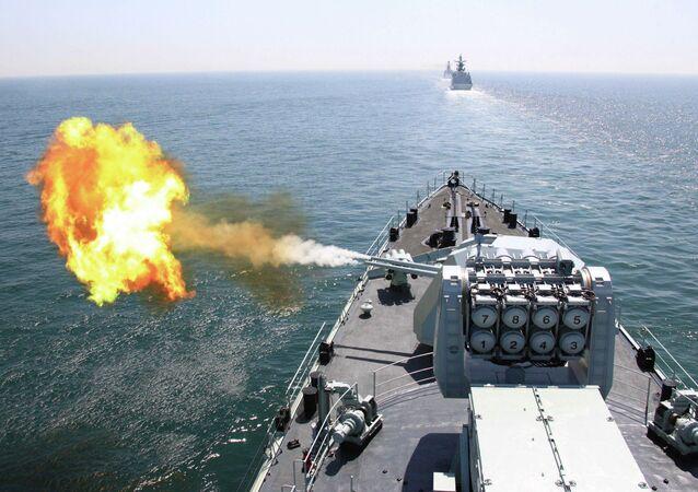 Navio chinês participa em exercícios militares navais com Rússia  (imagem ilustrativa)