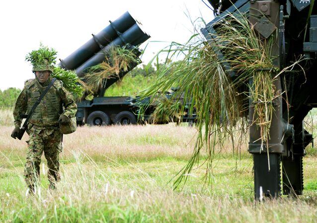 Soldado de las FFAA de Japón (foto de archivo)