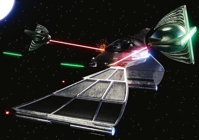 Nave espacial prepara-se para batalha