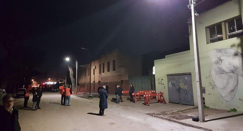 Instalação de lâmpadas da Incotex Electronic Group no âmbito do projeto-piloto em Montevidéu, Uruguai