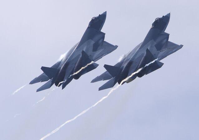 Caça russo de quinta generação Su-57