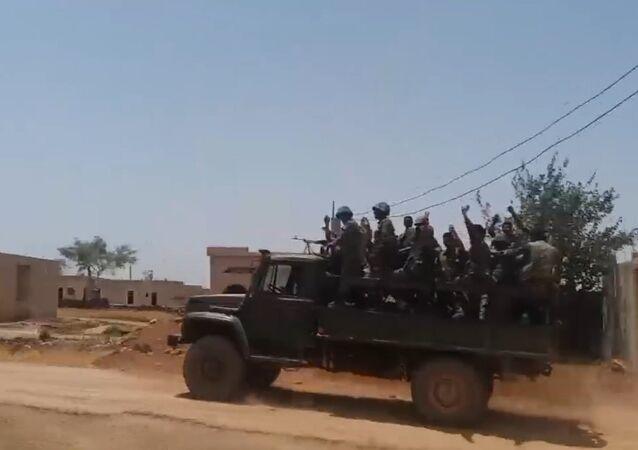 Avanços do exército sírio contra terroristas no deserto
