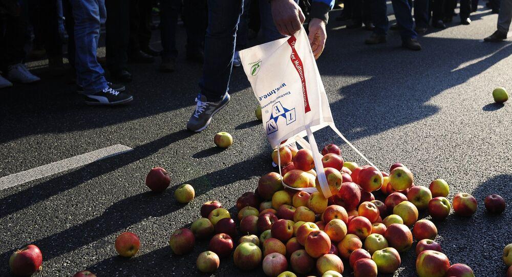 Agricultores poloneses protestam contra embargo russo