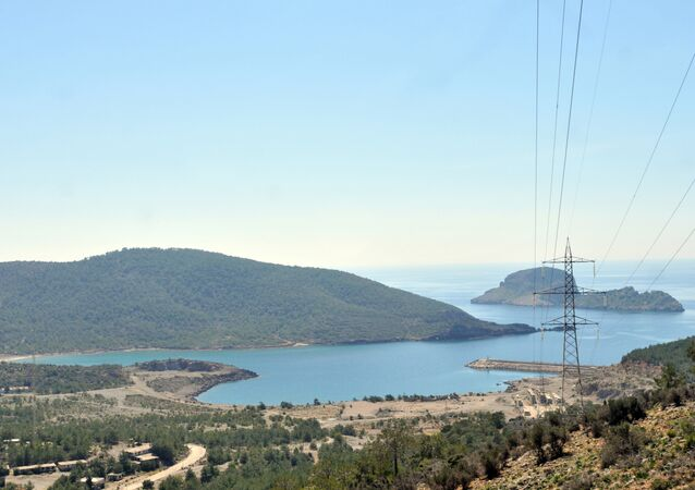 Província de Mersin, Turquia, na costa do mar Mediterrâneo
