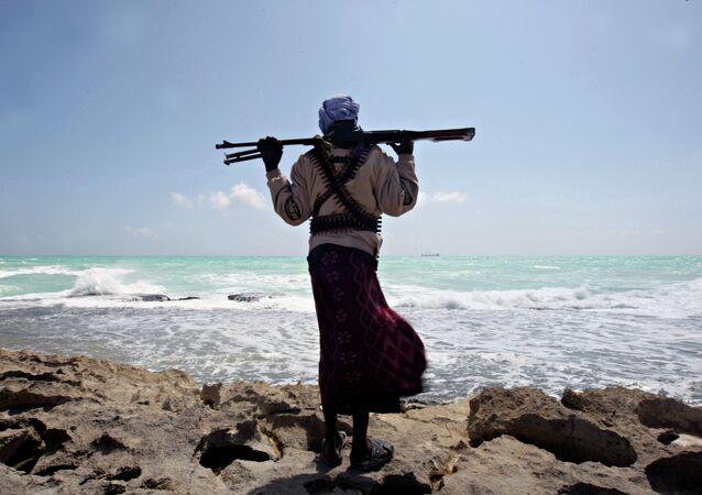 Pirata no mar da Somália (imagem de arquivo)
