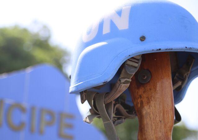 Monumento em homenagem aos soldados brasileiros mortos durante terremoto em Porto Príncipe, Haiti, em 2010