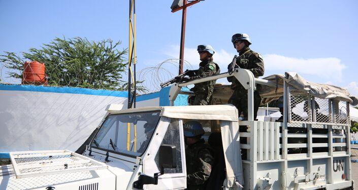 Militares brasileiros da missão MINUSTAH