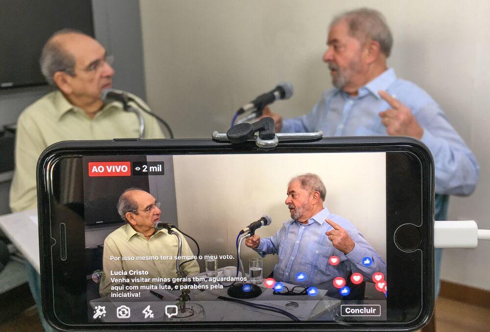 Petista fala com Mario Kertész, na rádio Metrópole, em Salvador
