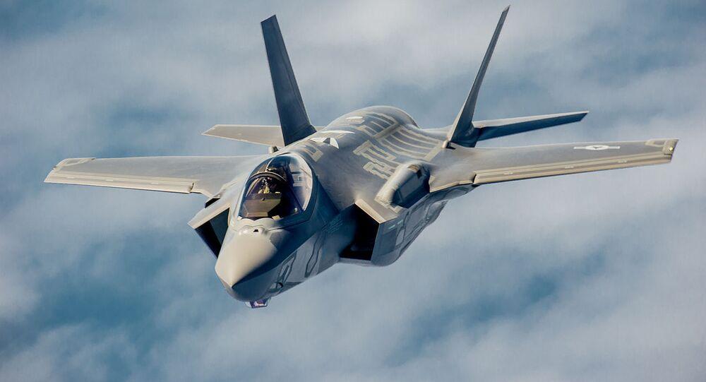 Caça norte-americano F-35 Lightning II (foto de arquivo)