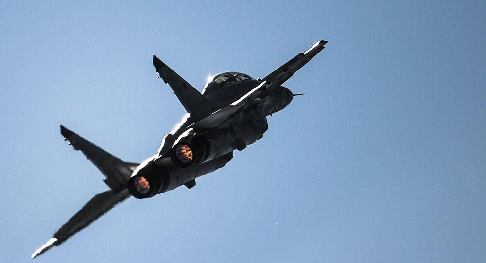 Caça russo MiG-29, foto de arquivo