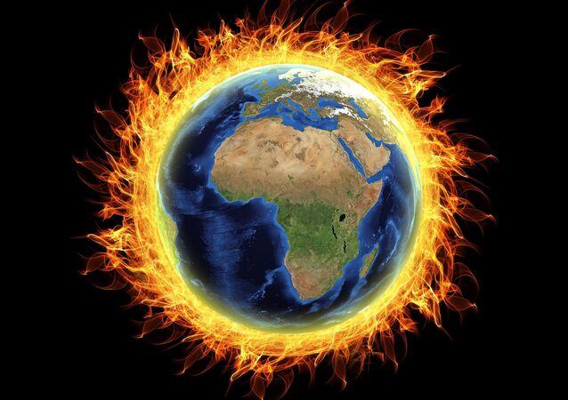 Aquecimento global no planeta (imagem ilustrativa)