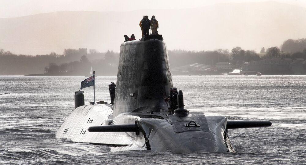 Submarino nuclear britânico, foto de arquivo
