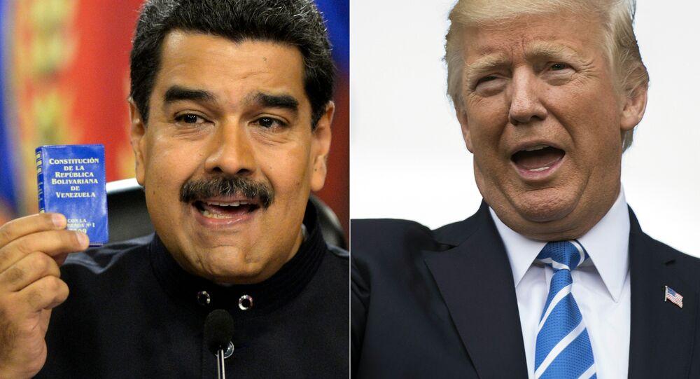 Nicolás Maduro, presidente da Venezuela, e Donald Trump, presidente dos Estados Unidos