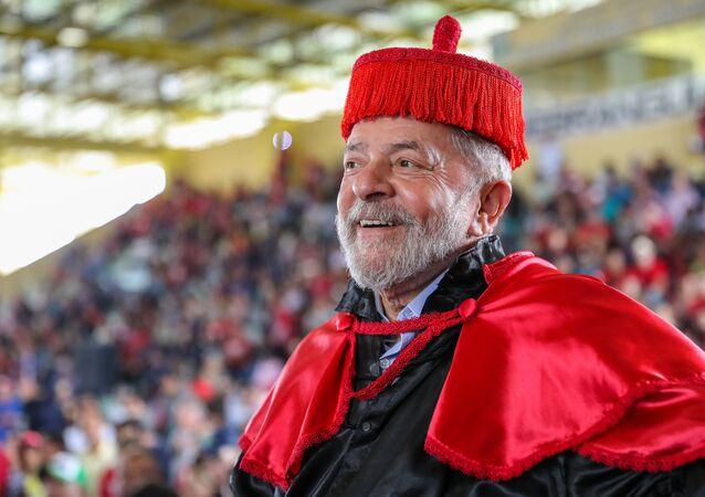 Ex-presidente Lula, do Brasil, na Universidade Estadual de Alagoas, em Arapiraca