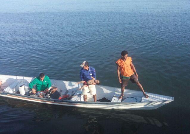 Resgate das vítimas do naufrágio na Baía de Todos-os-Santos