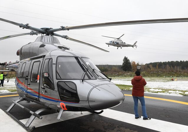 A apresentação do helicóptero multifuncional Ansat produzido na fábrica de Kazan (foto de arquivo)