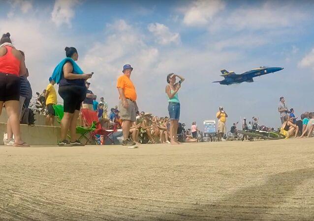 Caça norte-americano está a caminho do Chicago Air and Water Show