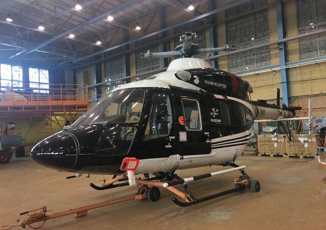 Helicóptero Ansat montado na fábrica de Kazan