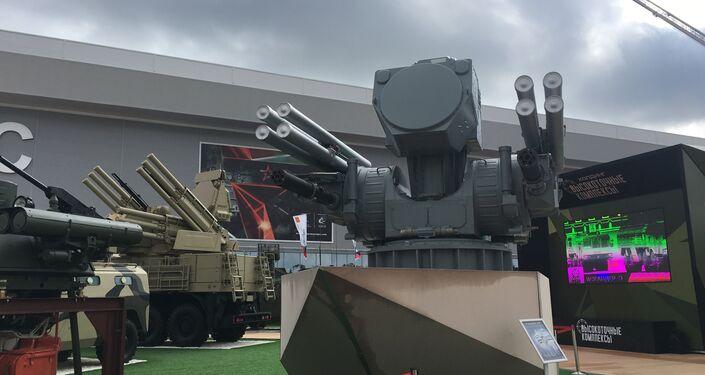 Versão naval do famoso sistema de defesa antiaérea de curto alcance, Pantsir-ME, na exposição EXÉRCITO 2017