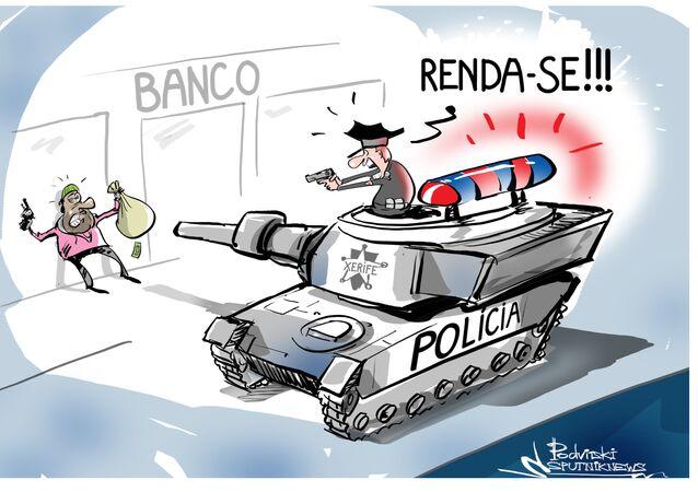 É provável que o presidente dos EUA Donald Trump possa cancelar a ordem executiva que proíbe a transferência de veículos blindados, armas de grande calibre etc. para departamentos de polícia locais