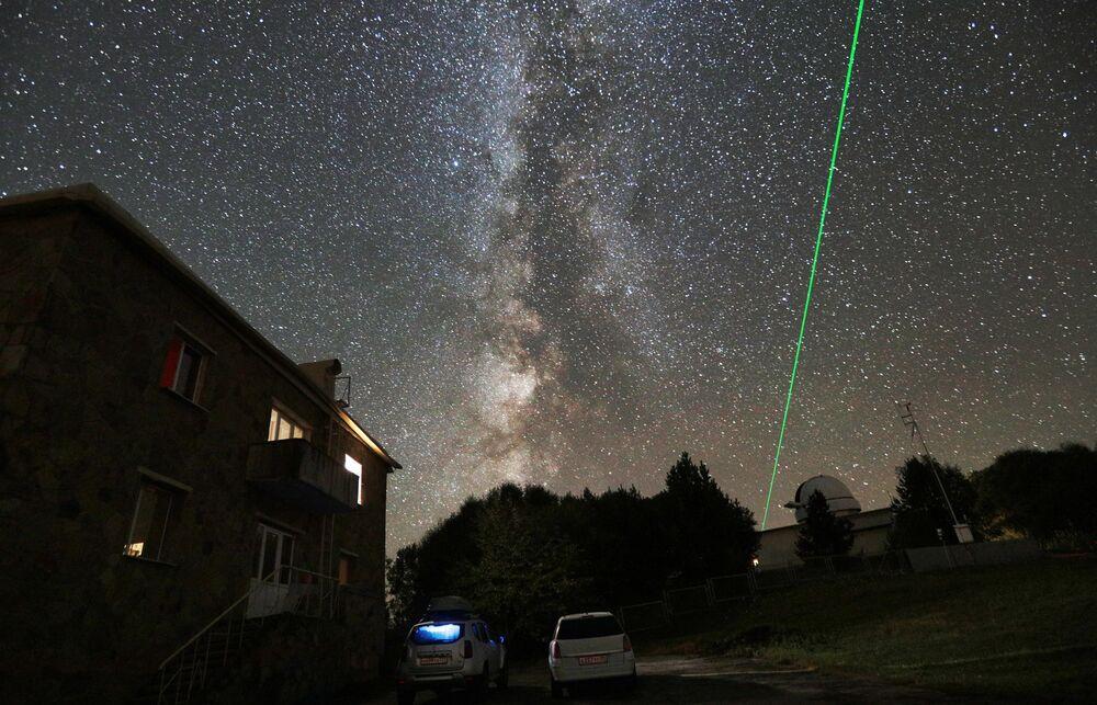O observatório astrofísico especial da Academia de Ciências da Rússia encontra-se perto do monte de Pastukhov no distrito de Zelenchuksky, república de Carachai-Cherquéssia, Rússia