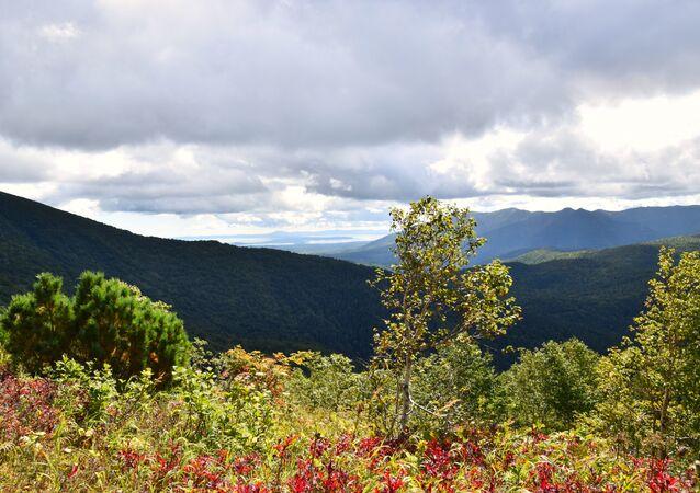 Montanhas na ilha de Sacalina (foto de arquivo)