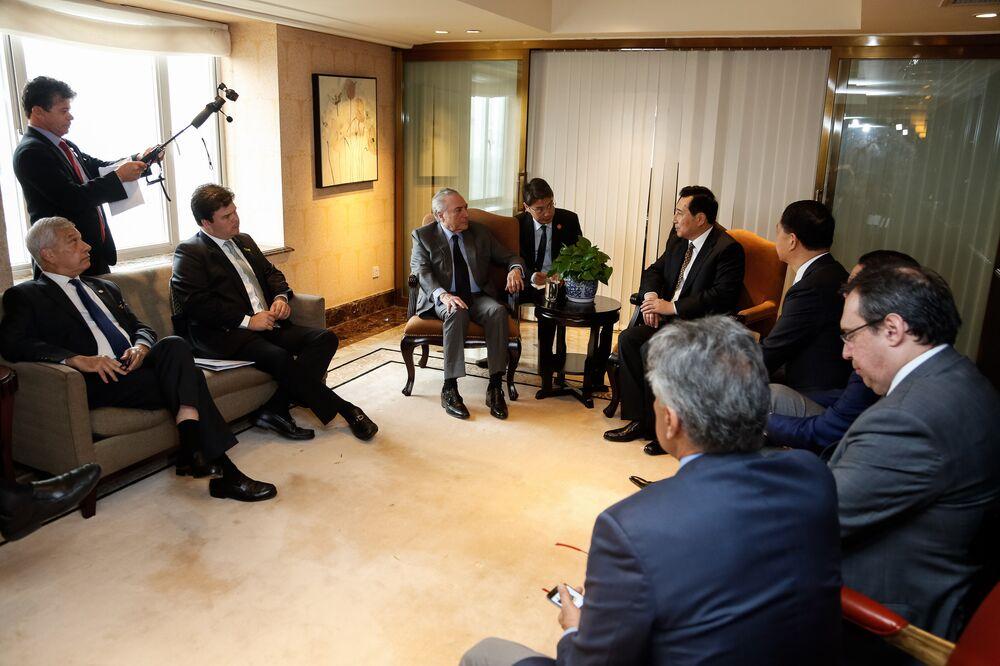 Houve, também, agenda com representantes da China Three Gorges Corporation.