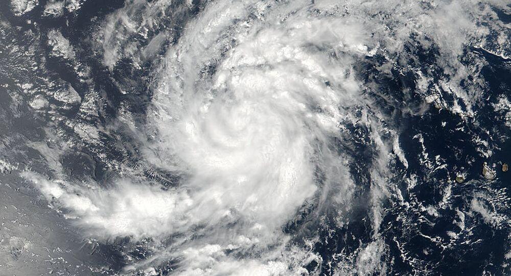Imagem do furacão Irma sobre o Oceano Atlântico em 30 de agosto de 2017