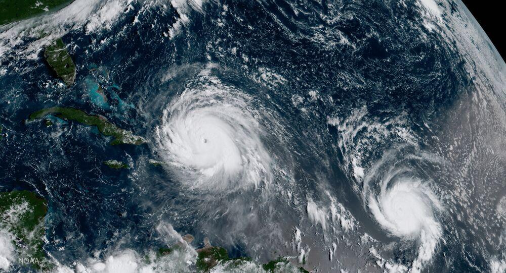 Imagem do furacão Irma