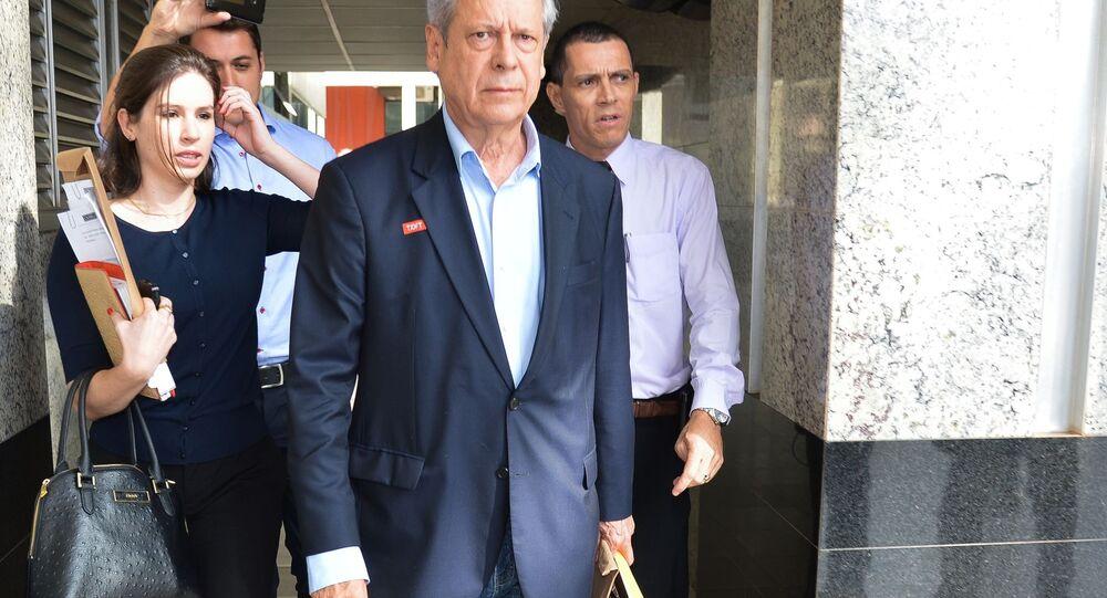 José Dirceu em Brasília, em 2014