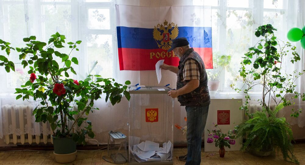 Regional/municipal elections day in Russia