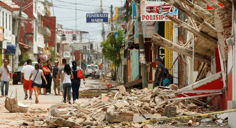 Áreas destruídas por terremoto em Juchitán, no México