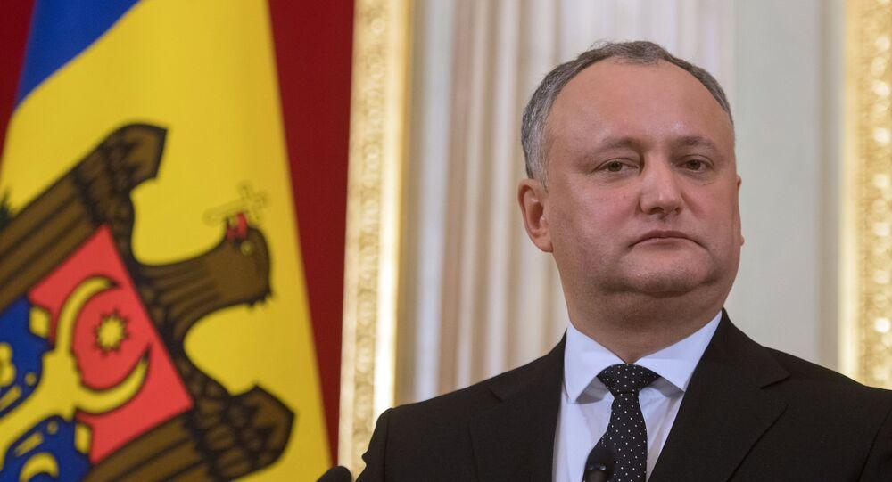 Presidente da Moldávia Igor Dodon
