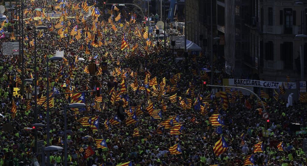 Ato em Barcelona pela independência da Catalunha