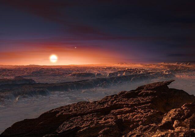 O planeta Próxima B, planeta parecido com a Terra (ficção)