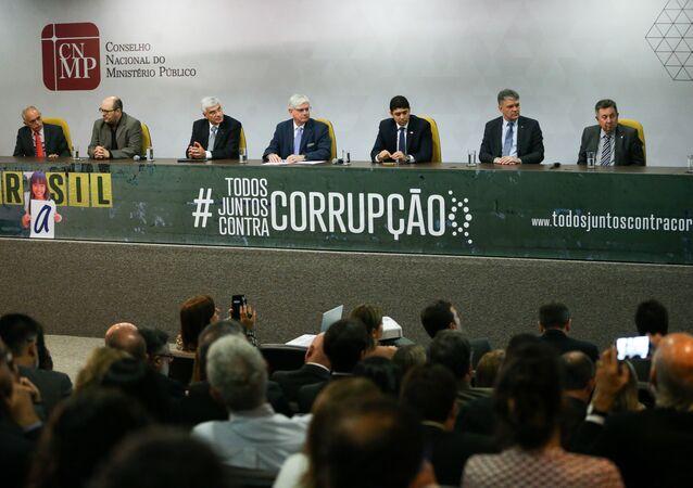 Lançamento da campanha Todos juntos contra a corrupção, no Conselho Nacional do Ministério Público (arquivo)