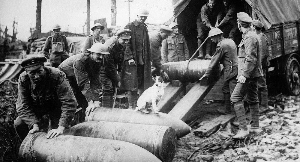 Frente do Ocidente na Primeira Guerra Mundial (foto de arquivo)