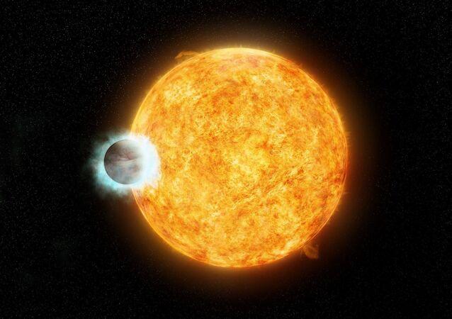 O exoplaneta WASP-18b é parecido com o WASP-19b do grupo dos assim chamados júpiteres quentes