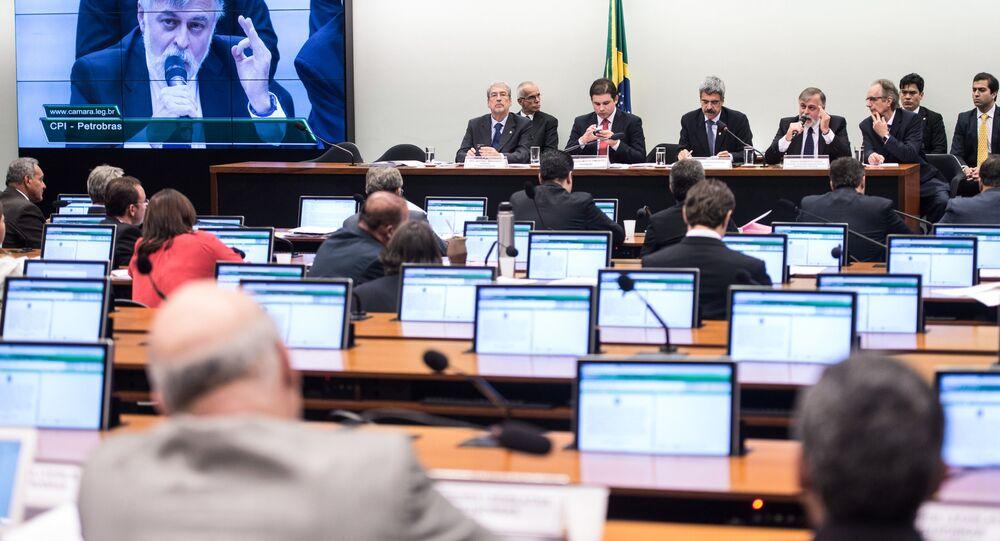 Paulo Roberto Costa, ex-diretor de Abastecimento da Petrobras em depoimento na CPI da Petrobras, na Câmara dos Deputados