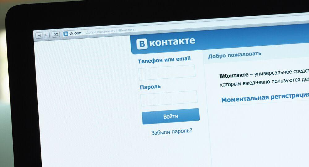Rede social russa VKontakte