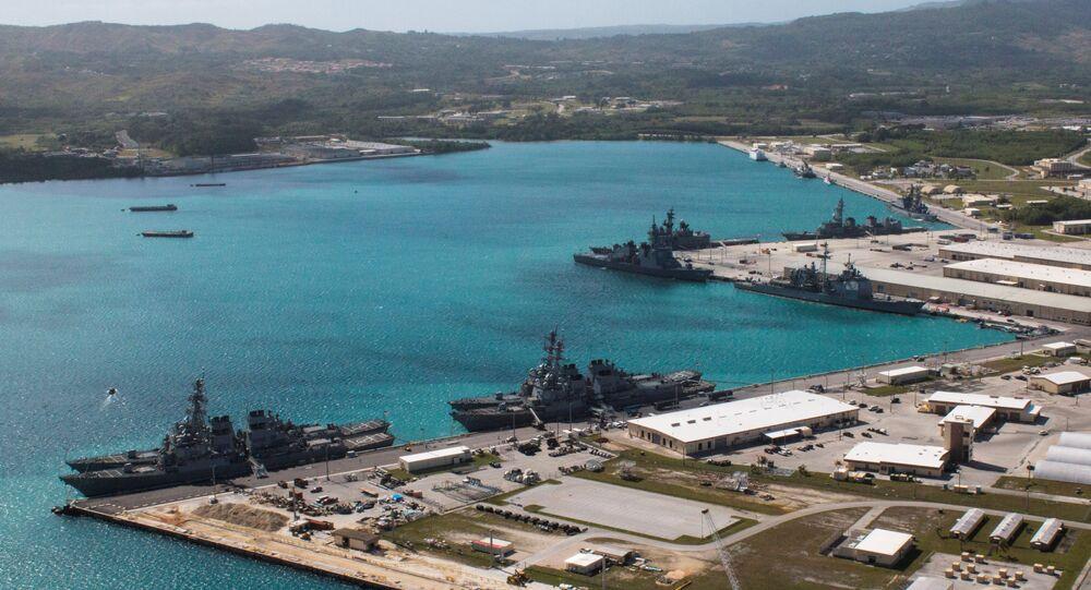Base militar dos EUA na ilha de Guam, território norte-americano no Pacífico (arquivo)