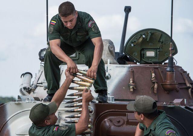 Soldados do exército da Venezuela